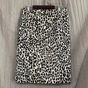 Calvin Klein Leopard Print Pencil Skirt